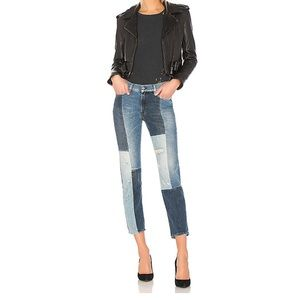 7 for All Mankind Indigo Patches Distressed Jeans